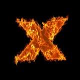 Burning check opposite symbol Stock Photo