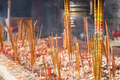 Burning chinese incense Stock Image