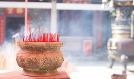 Burning chinese incense Stock Images
