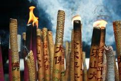Burning chino del incienso Imagenes de archivo