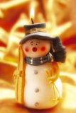 Burning Christmas candle Royalty Free Stock Photo