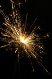 Burning christmas sparkler Royalty Free Stock Photography