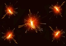 Burning christmas sparkler Royalty Free Stock Images