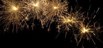 Burning christmas sparklers Royalty Free Stock Photo