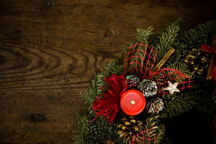 Burning christmas wreath Stock Photo