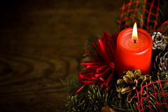 Burning christmas wreath Stock Image