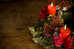 Burning christmas wreath Stock Photography