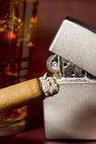 Burning Cigar Stock Photography