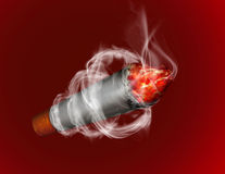 Burning cigarette Stock Photo