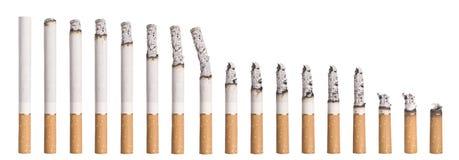 burning cigarettschackningsperiodtid Royaltyfri Bild