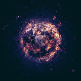 Burning Circle - Violet - Isolated on a dark background Stock Photos