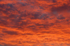 Burning Clouds Royalty Free Stock Images