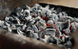Burning coal Stock Photography
