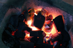 Burning of coal Royalty Free Stock Images