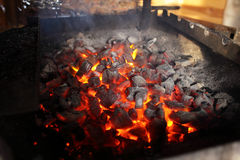 Burning coal Royalty Free Stock Photos