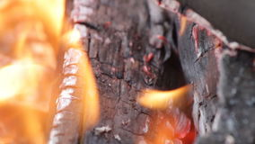 Burning coal. Close up of red hot coals glowed . Full HD, 1080p. stock video footage