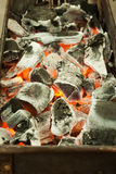 Burning Coal. For grill or toast Royalty Free Stock Photo