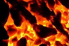 Burning coal. Royalty Free Stock Image