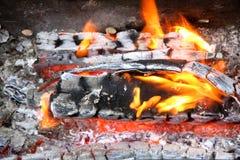 Burning Coals Stock Image