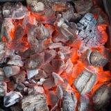 Burning coals royalty free stock image