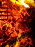 Burning Coals. Very hot burning coals on fire Royalty Free Stock Images