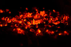 Burning coals Royalty Free Stock Images