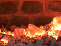Burning Coals Background Royalty Free Stock Image