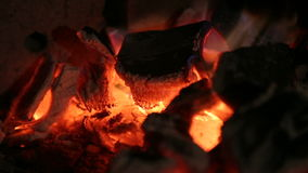 Burning coals, fire stock video