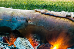 Burning coals of fire Royalty Free Stock Image