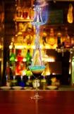 Burning cocktail Stock Photo