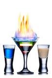 Burning cocktail Royalty Free Stock Image