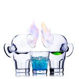 Burning cocktail Stock Images