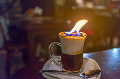 The burning coffee Stock Photography