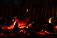 Burning coir Royalty Free Stock Photo