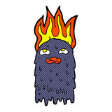 burning comic cartoon ghost Royalty Free Stock Images