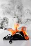 Burning computer mouse Stock Photos