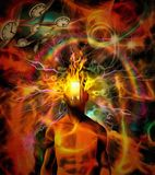 Burning consciousness Royalty Free Stock Photo