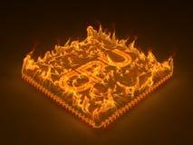 Burning cpu Stock Photos