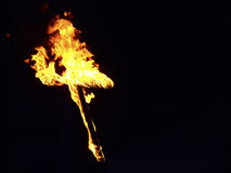 Burning Cross Stock Photography