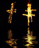 Burning Cross Royalty Free Stock Images