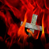 Burning cross Royalty Free Stock Photography