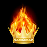 Burning crown Royalty Free Stock Photos