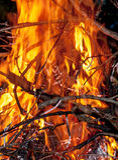 Burning d'incendie Image stock