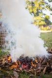 Burning d'incendie Photos stock