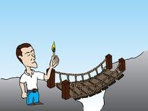 Burning da ponte Fotografia de Stock Royalty Free