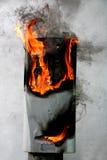 Burning datorfall royaltyfria foton