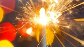 Burning de la bengala del fuego artificial Foto de archivo