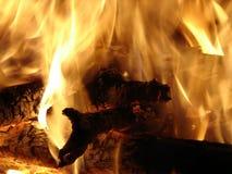 Burning de la hoguera Fotos de archivo libres de regalías