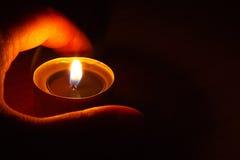 Burning de la vela Foto de archivo