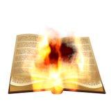 Burning de libro viejo Imagen de archivo libre de regalías